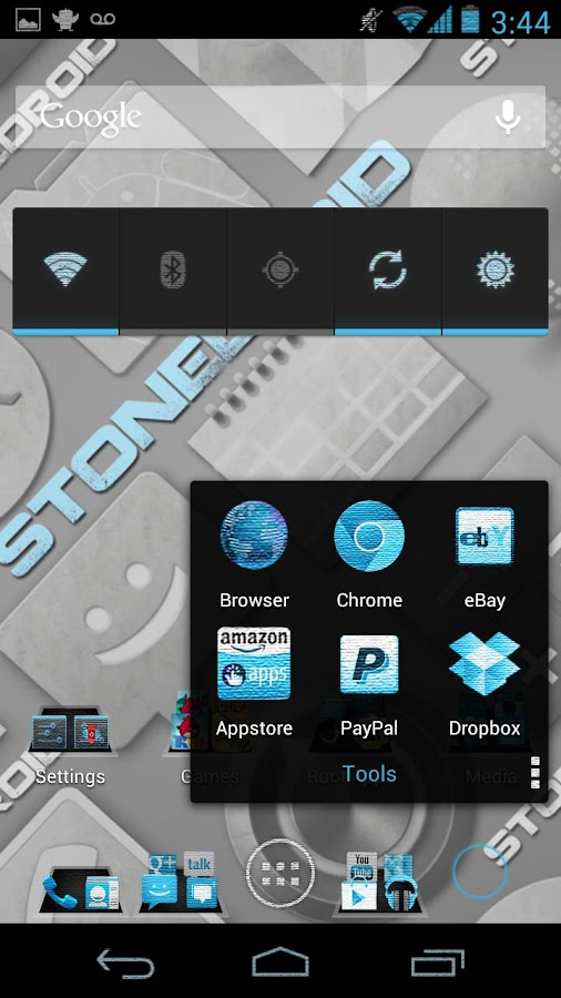 CM10/AOKP StoneDroid - screenshot