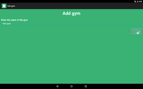 Gym Register - náhled