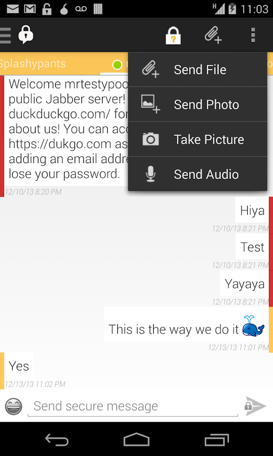 ChatSecure - screenshot