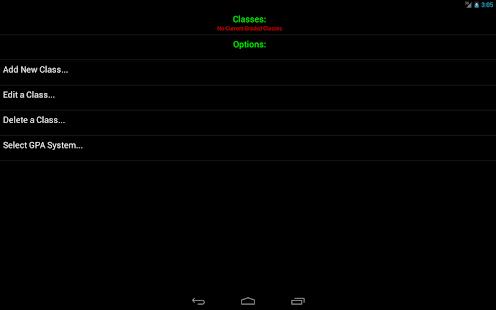 Android Gradebook - screenshot thumbnail