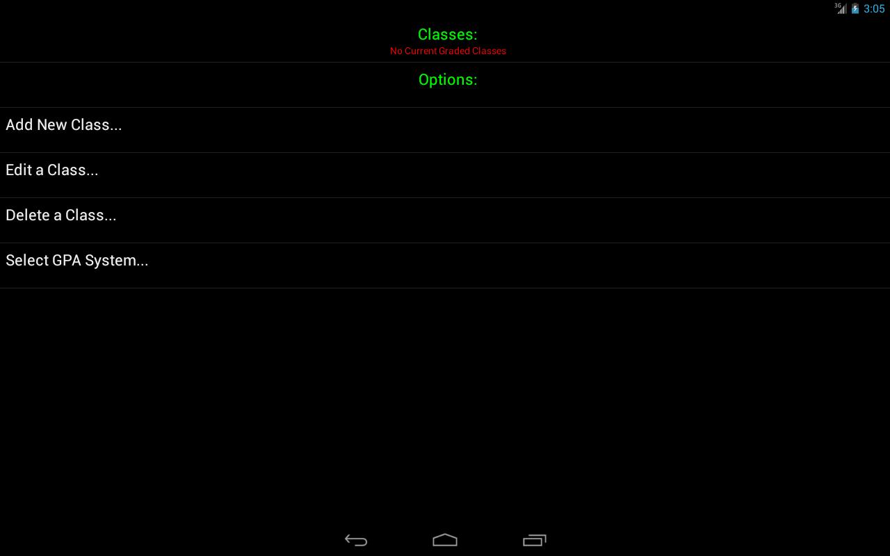 Android Gradebook - screenshot