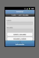 Screenshot of Conversor Euro Dolar