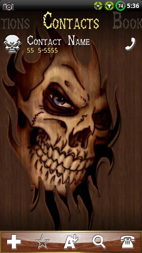 Wood Skull ssLauncher Theme - screenshot