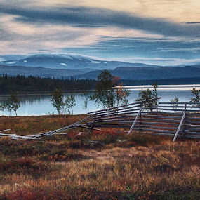 Change by Erika Lorde - Landscapes Mountains & Hills ( sweden, mountains, sky, afternoon, narutephotography, sunset, snow, fall, lake, landscape )