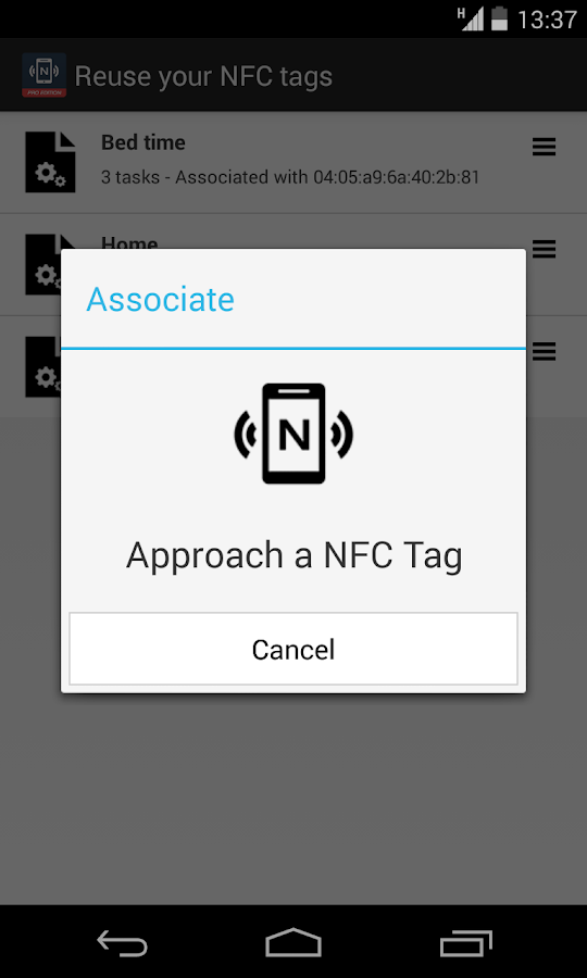 NFC Tools Plugin : Reuse Tag - screenshot