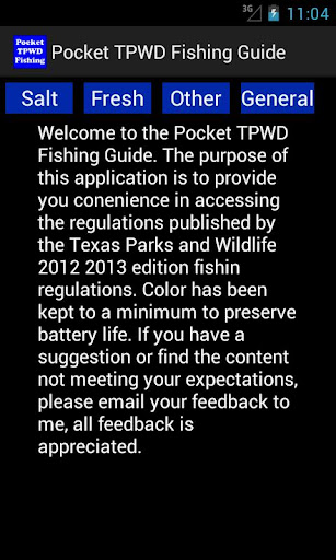 Pocket TPWD Fishing
