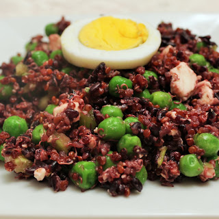 Black Rice, Quinoa, Pea salad.