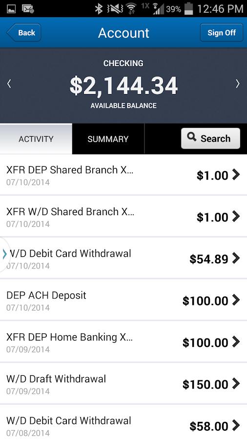 Parsons FCU Mobile - screenshot