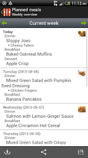 Food Planner - screenshot thumbnail