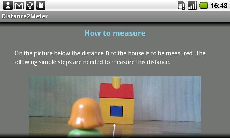 Distance2Meter camera measure- screenshot