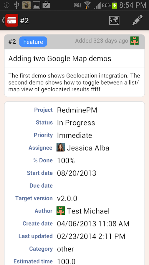 RedminePM - Redmine Client App- screenshot