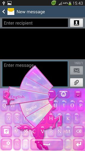桃红色独角兽键盘