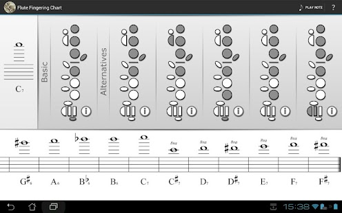 Flute Fingering Chart - Android Apps On Google Play