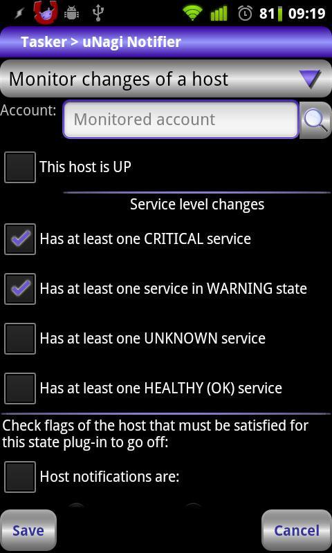 Locale uNagi Notifier Plug-in- screenshot