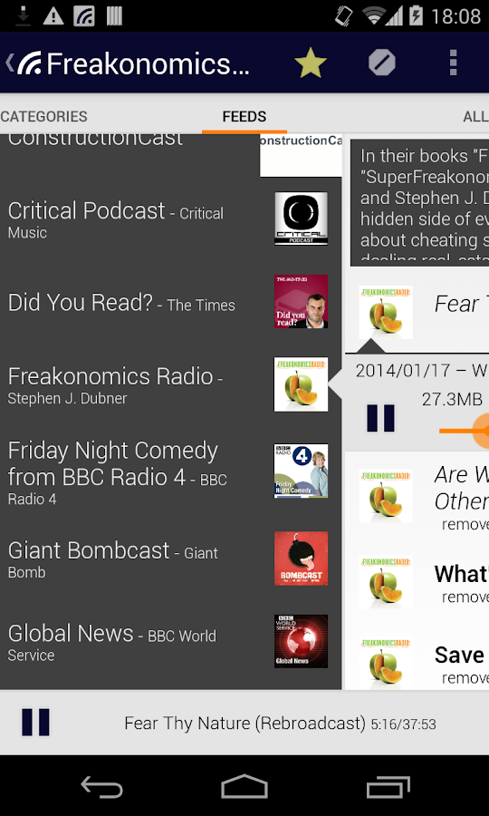 Podcatcher - screenshot