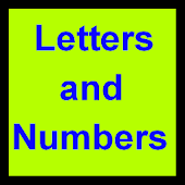 Letters and Numbers SBS helper