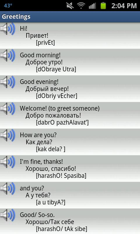 Learn basic russian phrases audio