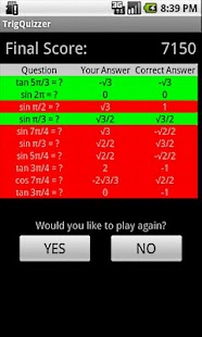 Trig Quizzer - screenshot thumbnail