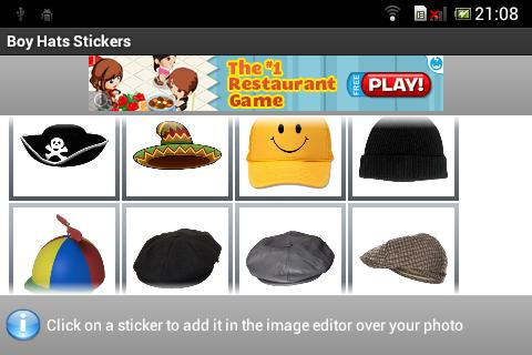 Boy Hats Stickers - screenshot