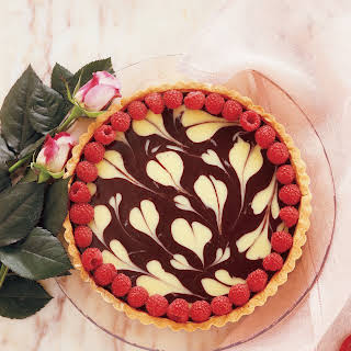 Ultra Romantic Tart Of Two Chocolates.