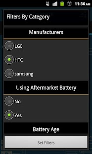 Battery Compare - screenshot thumbnail