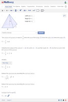 Screenshot of Mathway