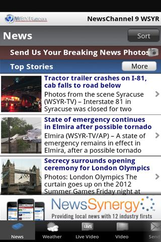 NewsChannel 9 WSYR Syracuse - screenshot