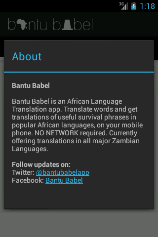 Bantu Babel - screenshot
