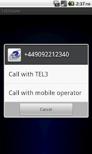 TEL3Dialer- screenshot thumbnail