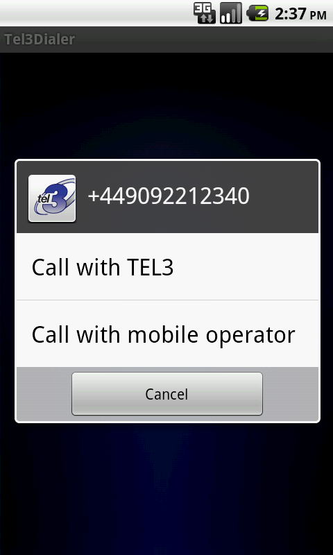 TEL3Dialer- screenshot