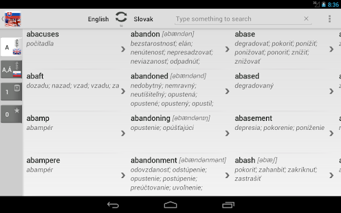 Free Dict Slovak English- screenshot thumbnail