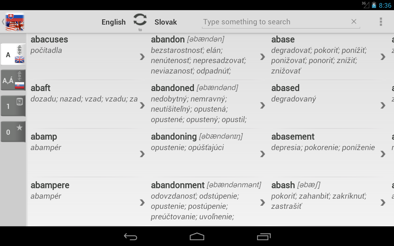 Free Dict Slovak English- screenshot
