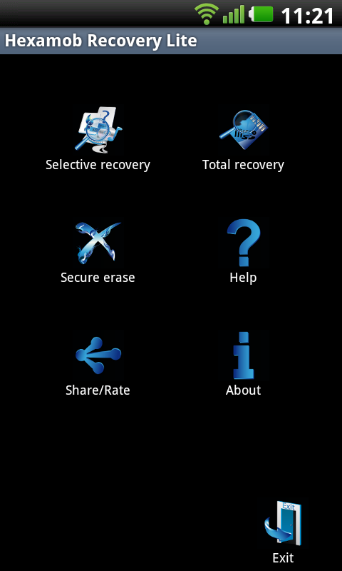 Hexamob Recovery Lite - screenshot