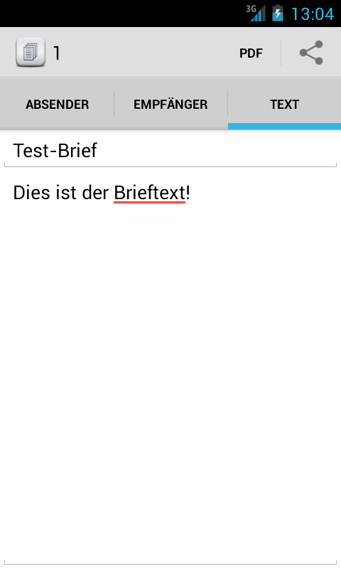 Brief schreiben - Tex10- screenshot