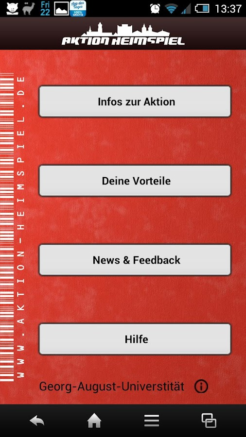 Aktion Heimspiel Göttingen- screenshot