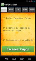 Screenshot of Cupon Escaner - ONCE