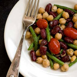 Three-bean Salad With Dill Dressing.