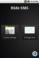 Screenshot of Hide SMS
