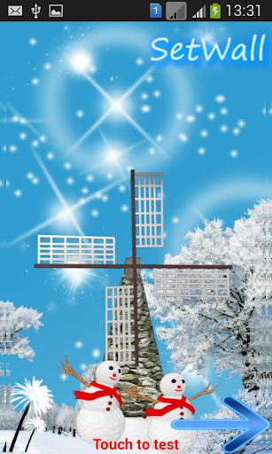 Windmill Winter Snow