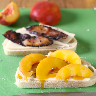 Peach, Bacon and Fontina Paninis.
