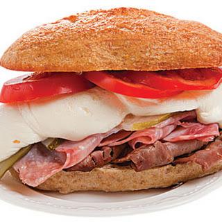 Bauru (Brazilian Roast Beef Sandwich).