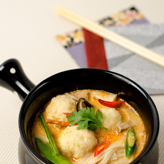 Thai Coconut Soup with Fish Ball (Tom Kha Gai)