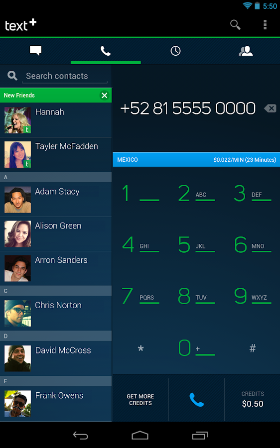 textPlus Free Text + Calls - screenshot