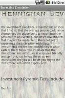 Screenshot of Investing Simulator