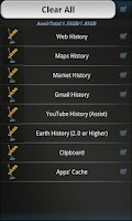 Screenshot of Quick History Cleaner