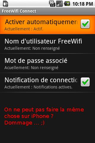 FreeWifi Connect - screenshot