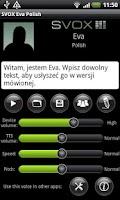 Screenshot of SVOX Polish/Polska Eva Trial