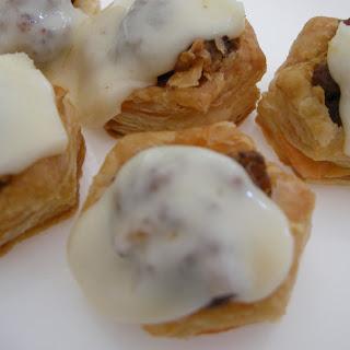Puff Pastry Meatball Marinara Bites.