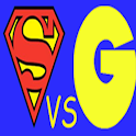 Superman VS Goku English logo