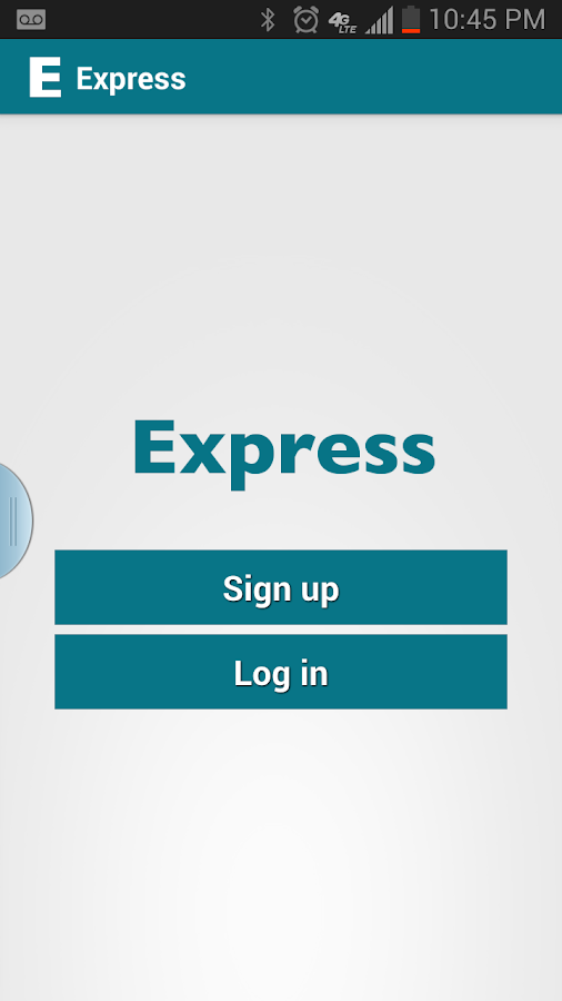 Express App - screenshot